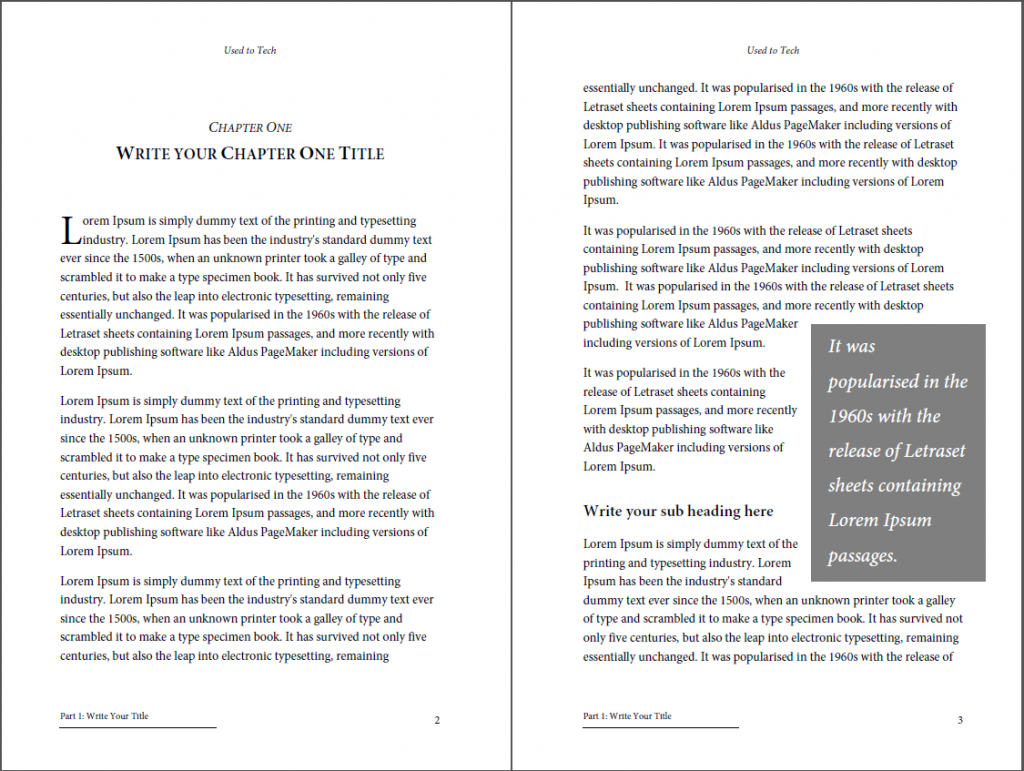 Microsoft Word Book Template | Professional Looking Book Template For Word Free Used To Tech