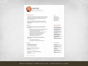 Minimal Design CV