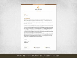 Simple Letterhead Template in Word