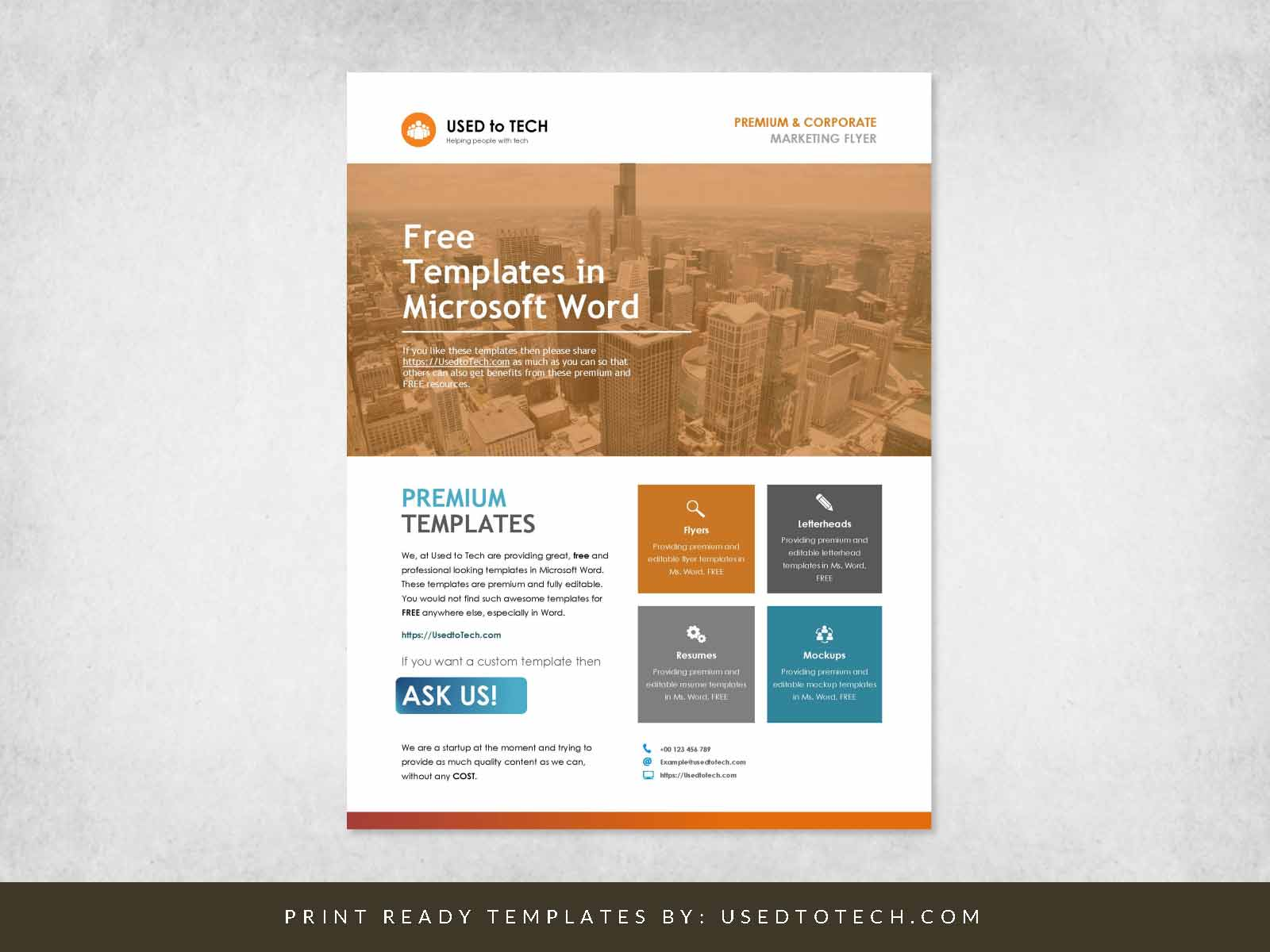 04 Corporate Flyer Template in Word