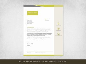 Premium Letterhead Design in Word