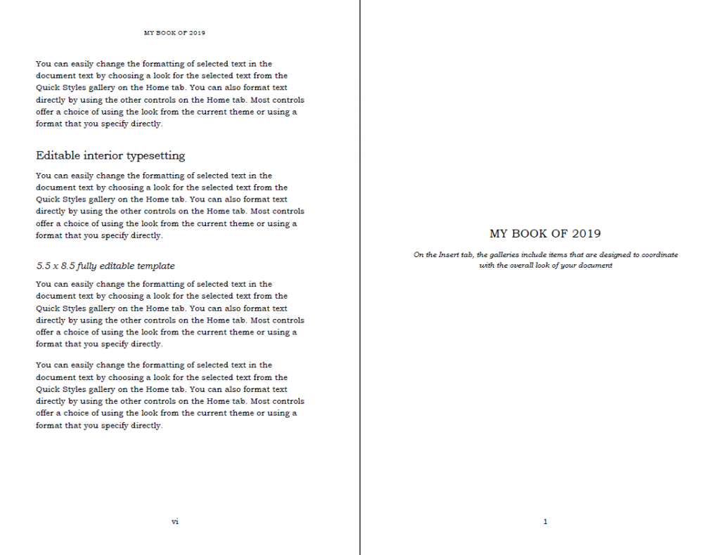 Modern Book template in Word