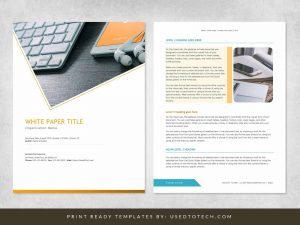 Modern & Editable White Paper Template in Ms Word