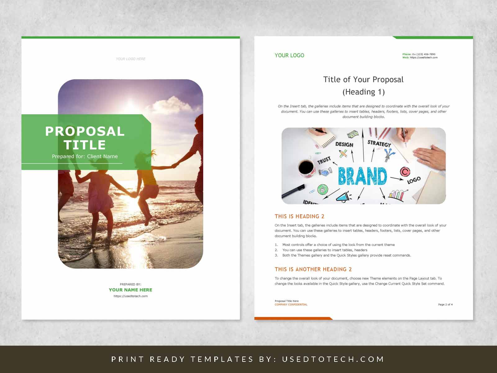 Elegant & Editable Proposal Design in Word