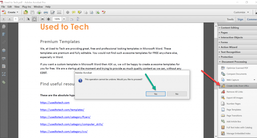 How to convert Word to PDF with hyperlinks - Used to Tech