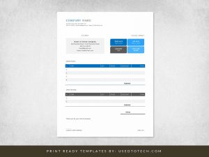 Modern Invoice Design in Microsoft Word