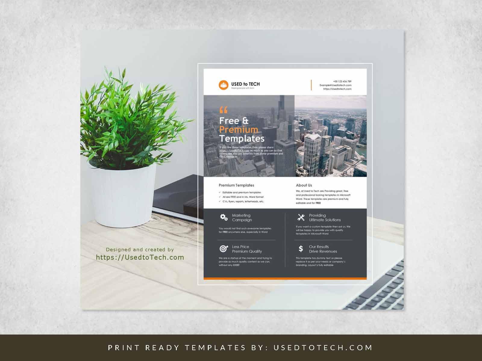 Flyer Mockup Design in Microsoft Word