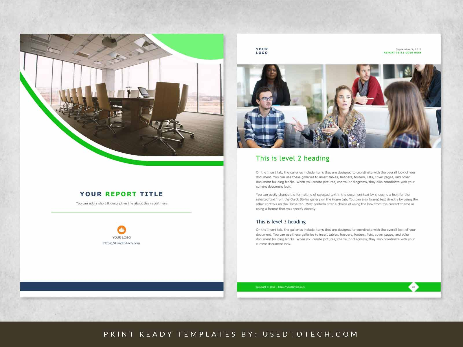 Corporate Report Design Template in Microsoft Word