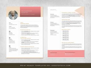 Personal Profile Design in Editable Word Format