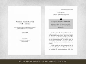 Premium & Free 6x9 Book Template for Microsoft Word