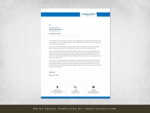 Amazing Looking Company Letterhead Template in Word
