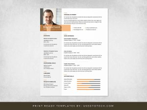 Free Inspiring Graphic Designer Resume in Ms Word
