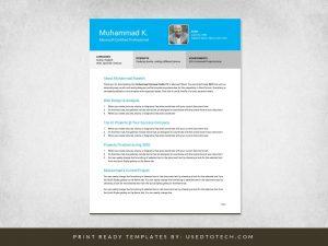 Free professional personal profile CV in Microsoft Word