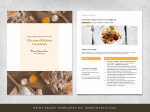 Cleanest kitchen cookbook design in Microsoft Word