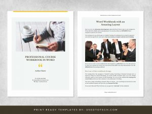 Professional course workbook template in Word