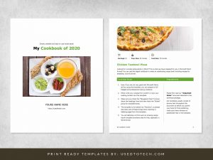Simple recipe ebook template in Microsoft Word
