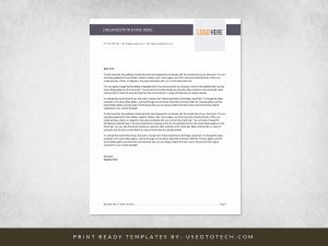 Word format for letterhead with polished layout