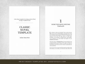 Simple classic novel writing template for Word