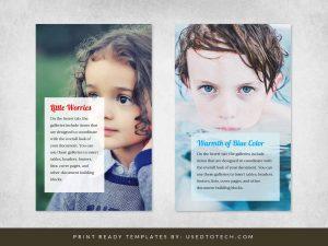 Picture book template for children