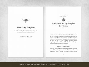 Free Word kdp template in 6.69 x 9.61