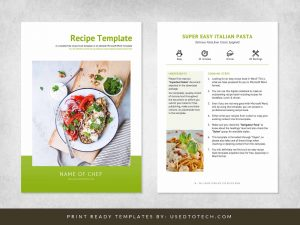 Easy Word template for recipe book