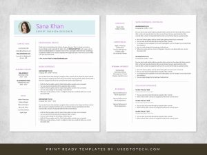 Free fashion designer resume in Word