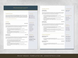 Free template for designing good resume