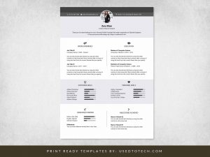 Iconic personal profile template for Word