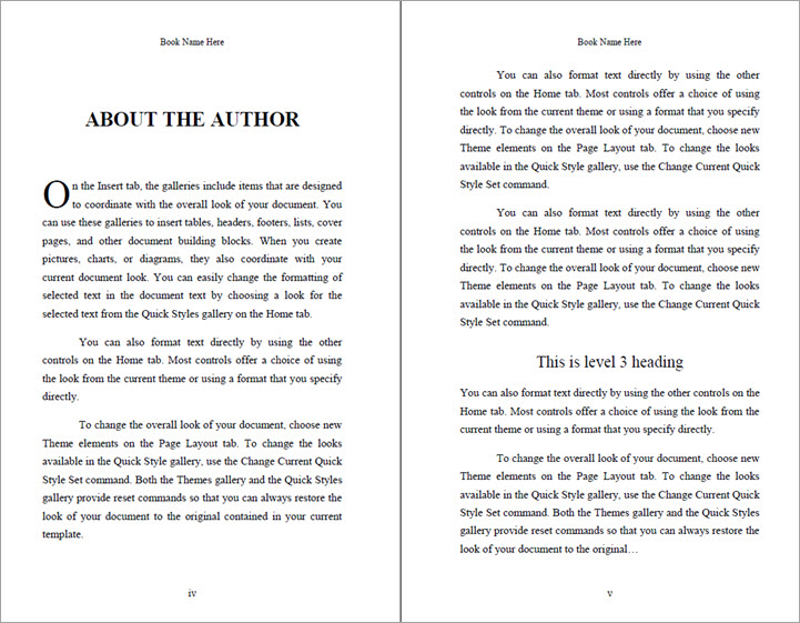 5.5 x 8.5 ebook template in Word
