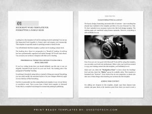 Microsoft Word book template in 7.5 x 10 for print