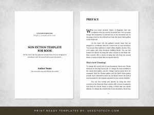 Non fiction template for book in 6 x 9